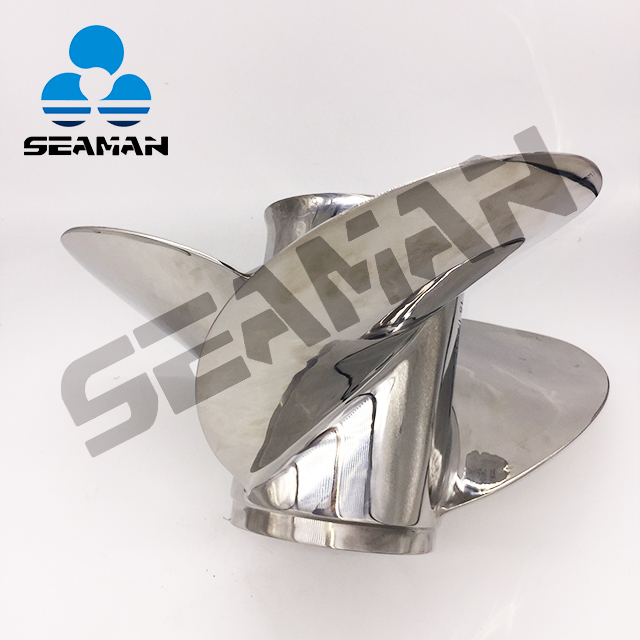 15 1/2 X 17 Pitch 150-300 HP Stainless Steel Outboard Propeller Large Diameter And Blade Area for Big Boat Loads
